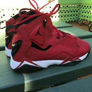 Red basketball Jordan sneakers